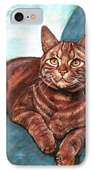 IPhone Case featuring the painting Ginger Tabby by VLee Watson