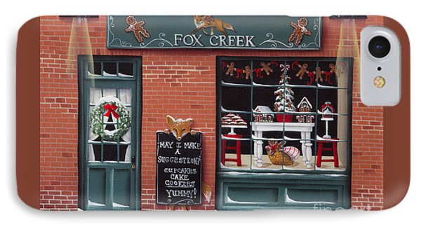Gingerbread Bakery At Fox Creek Phone Case by Catherine Holman