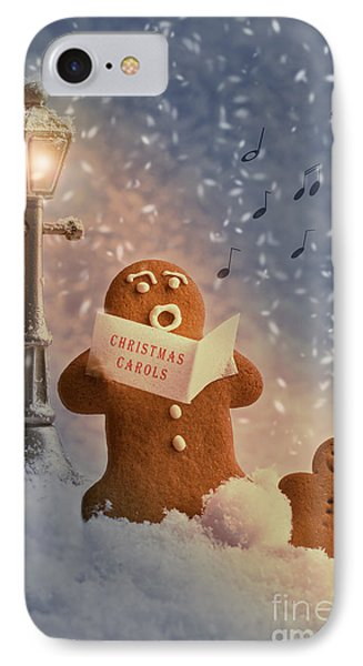 Gingerbread Carol Singers IPhone Case by Amanda Elwell