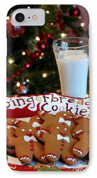 Gingerbread Cookies On Platter IPhone Case