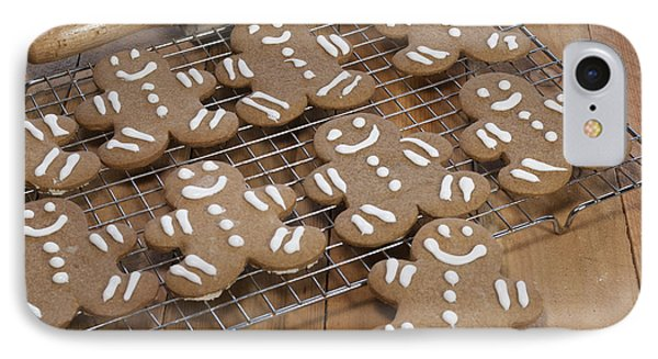 Gingerbread Man Cookies IPhone Case by Juli Scalzi