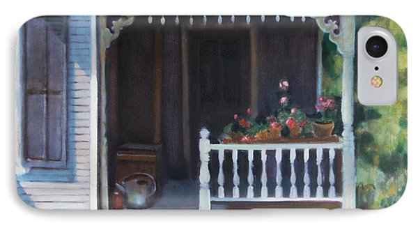 Gingerbread Porch Warren Vermont Phone Case by Pat Percy