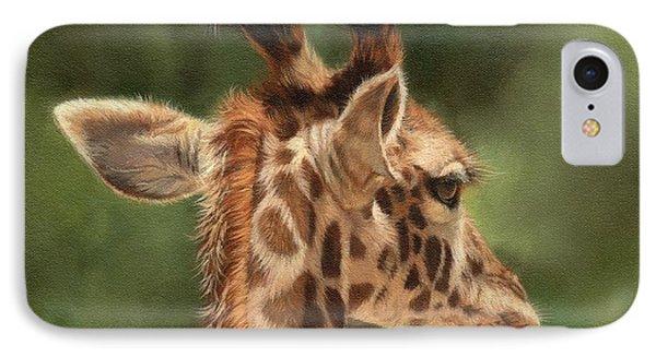 Giraffe IPhone Case by David Stribbling