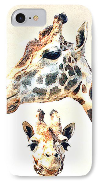 IPhone Case featuring the photograph Giraffe Faces by Christopher McKenzie
