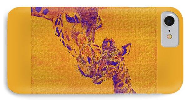 Giraffe Love IPhone Case by Jane Schnetlage