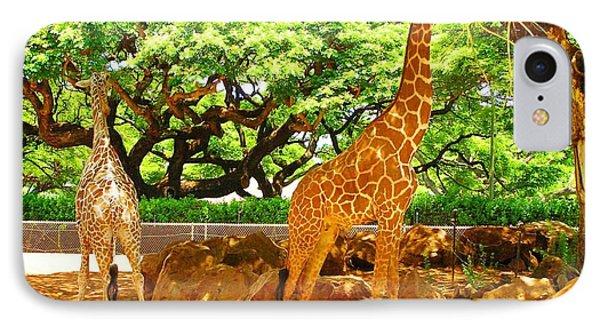 Giraffes IPhone Case by Oleg Zavarzin