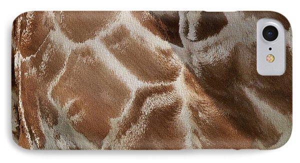 Giraffe Patterns IPhone Case by Dan Sproul