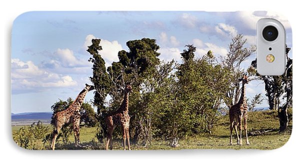 IPhone Case featuring the photograph Giraffe Picnic by AnneKarin Glass