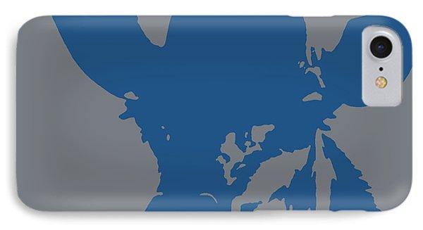 Giraffe Silhouette Grey Blue IPhone Case