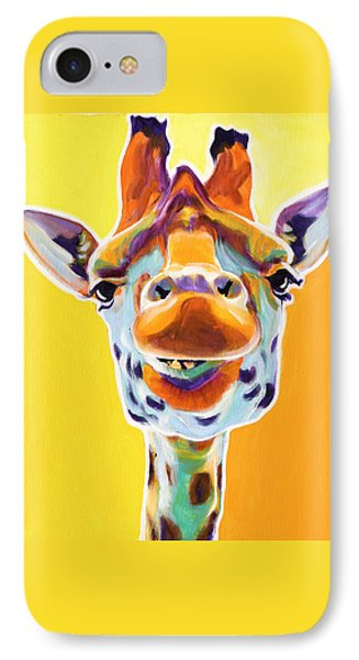 Giraffe - Sunflower IPhone Case