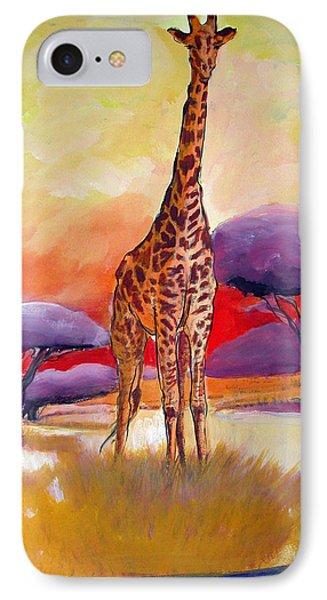 Giraffe IPhone Case by Synnove Pettersen