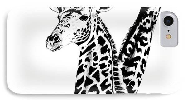 Giraffes IPhone Case by Cheryl Poland