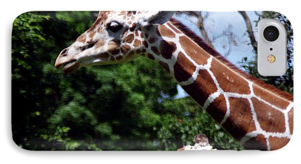 IPhone Case featuring the photograph Giraffes Coming And Going by Tom Brickhouse