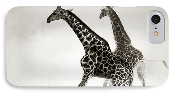 Giraffes Fleeing IPhone 7 Case by Johan Swanepoel