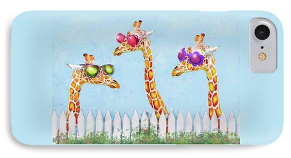 IPhone Case featuring the digital art Giraffes In Sunglasses by Jane Schnetlage