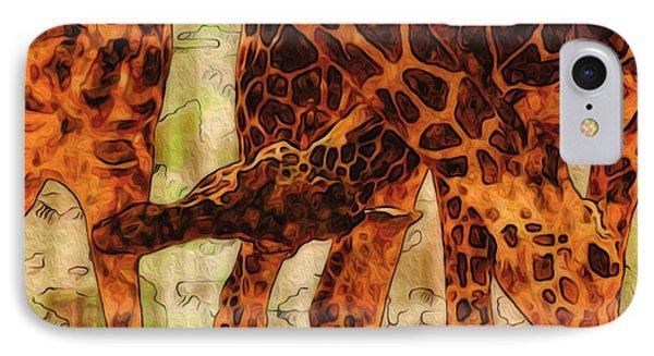 Giraffes  IPhone Case by Jack Zulli