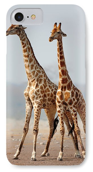 Giraffes Standing Together IPhone 7 Case