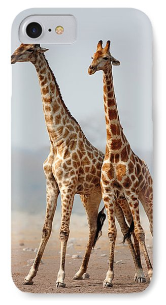 Giraffes Standing Together IPhone Case