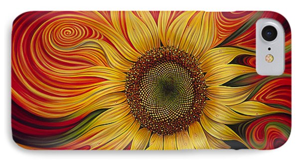 Sunflower iPhone 7 Case - Girasol Dinamico by Ricardo Chavez-Mendez