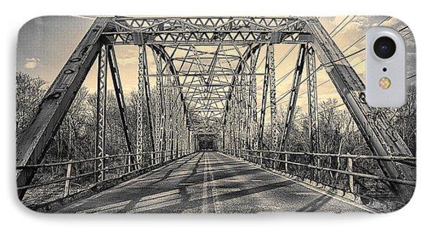 Girders..old Gravois Bridge IPhone Case by Robert FERD Frank