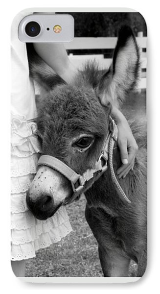 IPhone Case featuring the photograph Girl And Baby Donkey by Brooke T Ryan