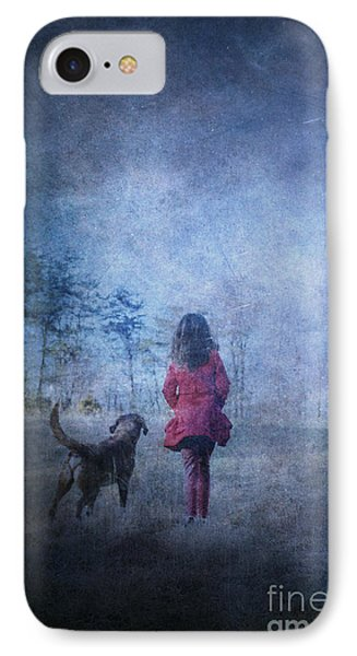 Girl And Her Dog IPhone Case