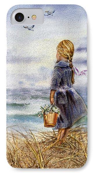 Girl And The Ocean Phone Case by Irina Sztukowski
