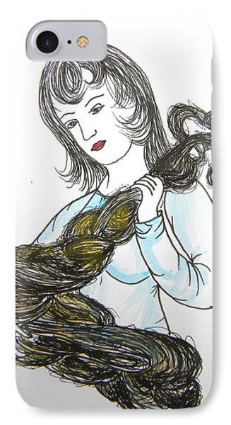 Girl And Tow Phone Case by Marwan George Khoury