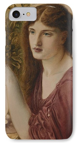 Girl At A Fountain IPhone Case by Simeon Solomon
