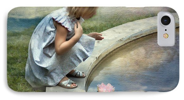 Girl At The Pond IPhone Case