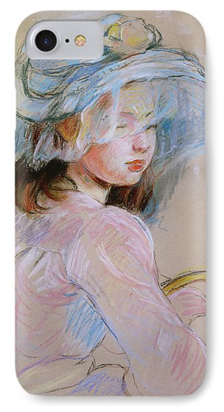 Girl Carrying A Basket IPhone Case by Berthe Morisot