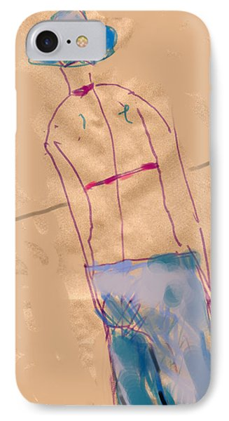 Girl From The Back Phone Case by Margie Lee