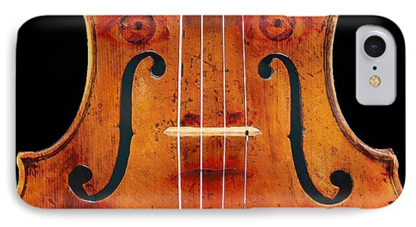Girl In A Violin IPhone Case by David Blank