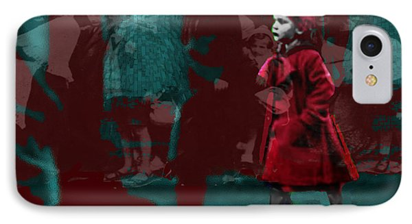 Girl In The Blood-stained Coat IPhone Case by Seth Weaver