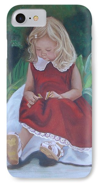 Girl In The Garden IPhone Case