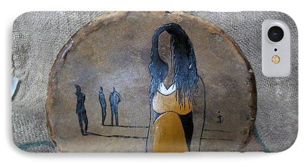 Girl In Yellow Phone Case by Ildiko Decsei