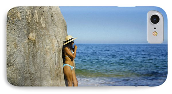Girl Looking At The Ocean IPhone Case