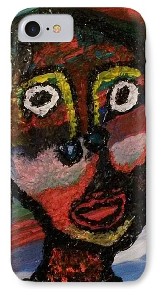 Girl Moheka   IPhone Case by Darrell Black