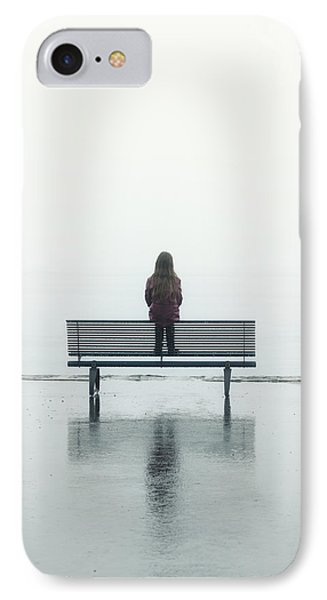 Girl On A Bench IPhone Case by Joana Kruse