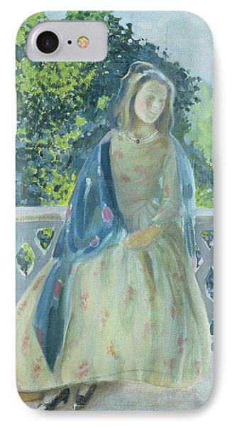 Girl On Balcony, 1900 IPhone Case by Viktor Elpidiforovich Borisov-Musatov
