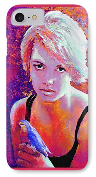 IPhone Case featuring the digital art Girl On Fire by Jane Schnetlage