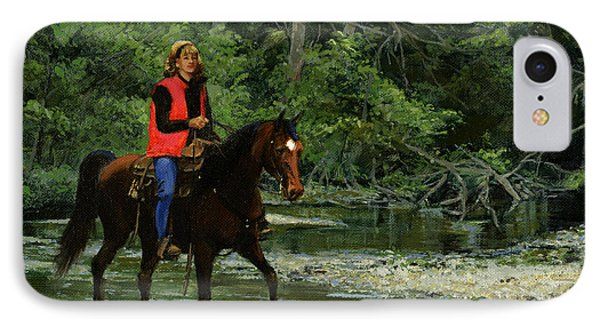 Girl On Horse IPhone Case