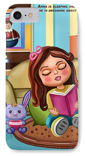 Girl Reading IPhone Case by Bogdan Floridana Oana