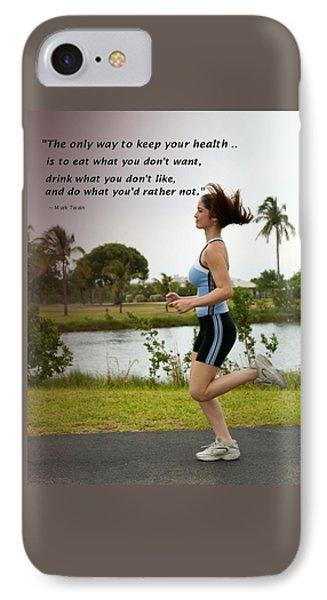 Girl Running For Health Goals IPhone Case