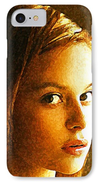 Girl Sans IPhone Case by Richard Thomas