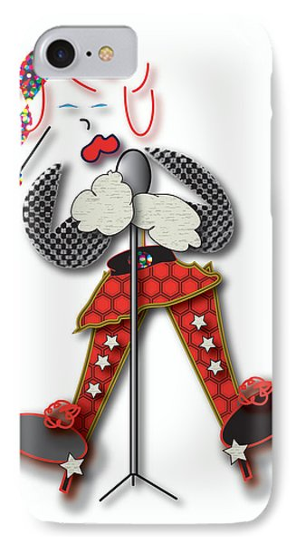 IPhone Case featuring the digital art Girl Singer Dress by Marvin Blaine