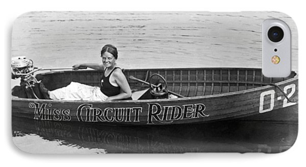 Girl Speedboatdriver To Race In President's Cup Races IPhone Case by Underwood Archives