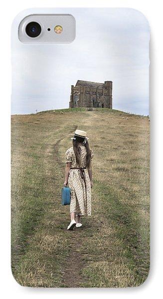 Girl Walks To A Chapel Phone Case by Joana Kruse