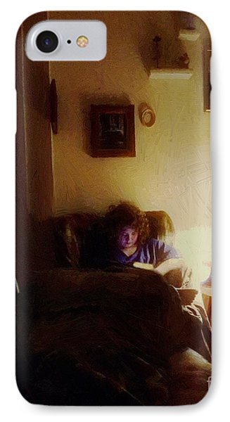 Girl With A Book Phone Case by RC deWinter