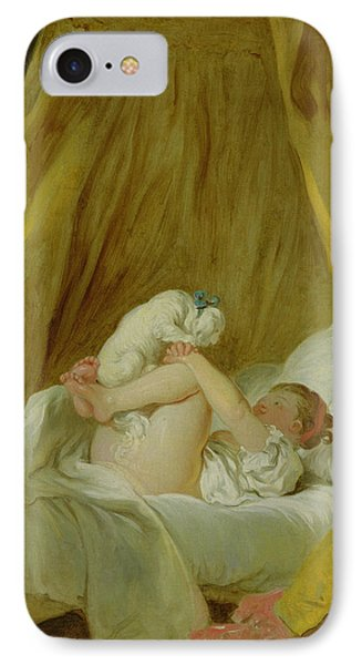 Girl With A Dog Phone Case by Jean Honore Fragonard